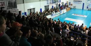 Il numeroso pubblico del Pala Bellina
