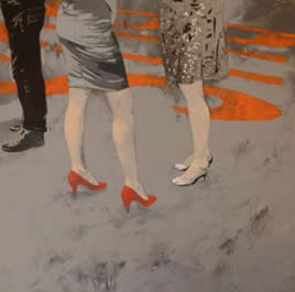 Le scarpe rosse di Paola - Mostra personale di Aurelio Caruso