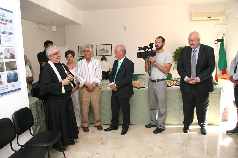 Da sx. a dx.: Don Giuseppe Turco, Geom. Teodoro Colossale, Dott. Aurelio Scavone