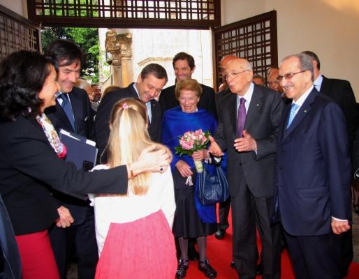 Il Presidente Giorgio Napolitano in visita