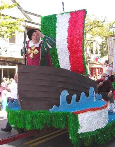 Christopher Columbus float