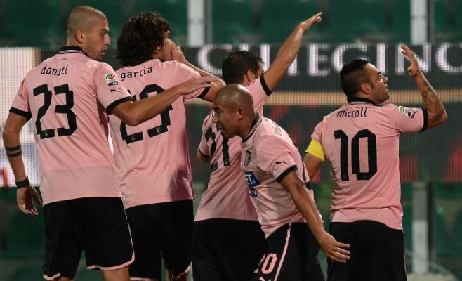 L'esultanza del Palermo