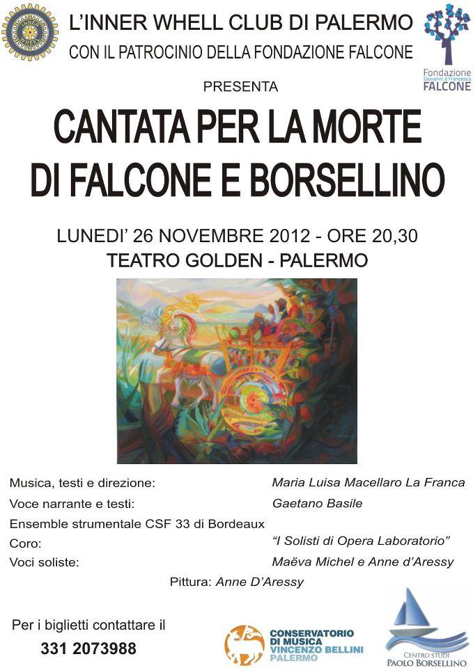 Locandina Cantata per la morte di Falcone e Borsellino
