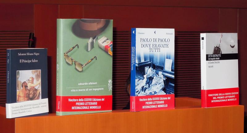 I libri vincitori dell XXXVIII edizione del Premio Letterario Internazionale Mondello