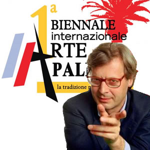 Logo 1a Biennale d'Arte di Palermo con Vittorio Sgarbi