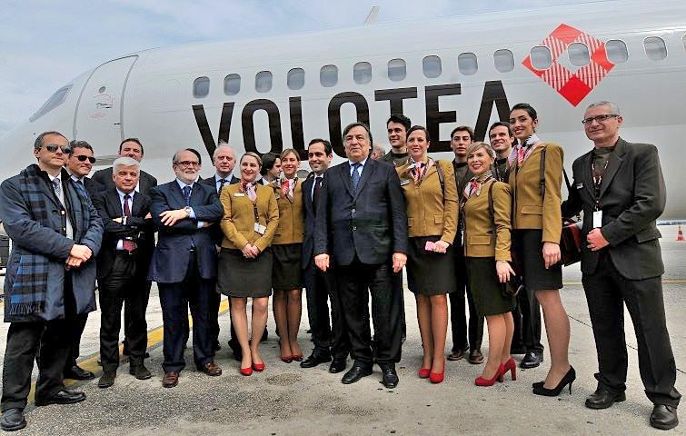 Inaugurata la nuova base della compagnia aerea Volotea all'aeroporto Falcone Borsellino