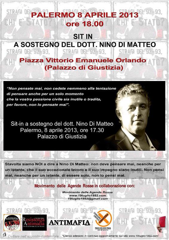 Manifesto del sit a favore del Dott. Di Matteo
