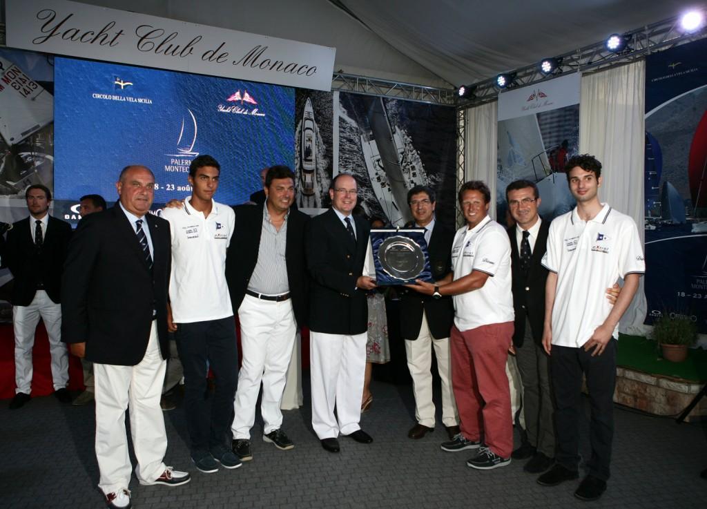 premiazione con Principe Alberto di Monaco