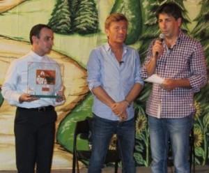 da sinistra: Don Francesco Cristofaro, Ron e Domenico Gareri