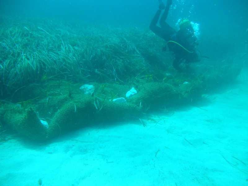 Gerin_collocazione bio-stuoie su fondale marino