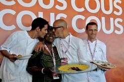 """SAN VITO LO CAPO (TRAPANI), 27 SETTEMBRE – L'Italia vince tutto. Per la prima volta nella storia del Cous Cous Fest la squadra """"azzurra"""" vince sia il premio miglior cous cous assegnato dalla giuria tecnica, offerto da Unicredit, che quello attribuito dai giurati popolari, offerto dall'azienda Bia. La ricetta di Andrea Provenzani e Giuseppe Salmeri"""