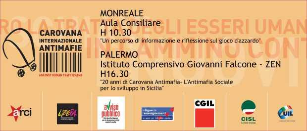 Carovana antimafia a Palermo (locandina)