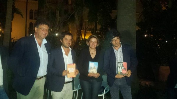 savatteri-e-i-finalisti-Da Sinistra, Gaetano Savatteri, Salvatore Falzone, Caterina Chinnici, Carmelo Sardo