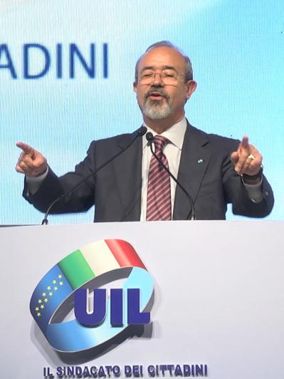 XVI Congresso nazionale UIL - Intervista a Carmelo Barbagallo 002