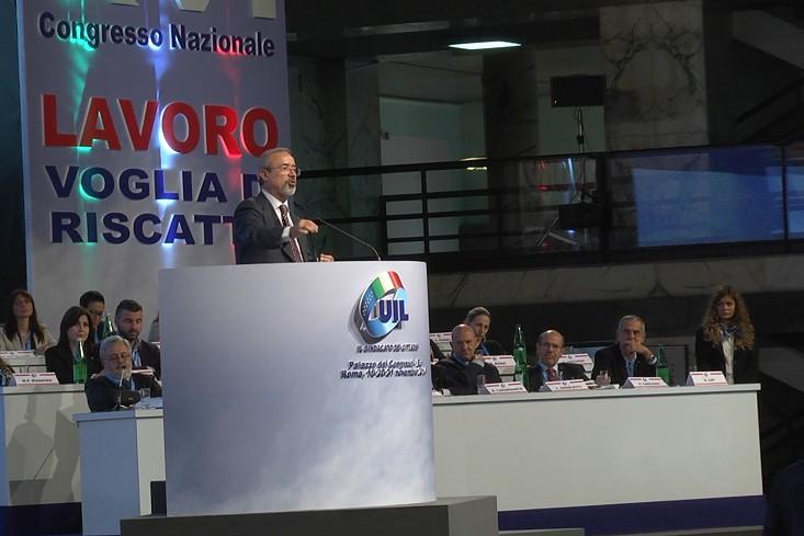 XVI Congresso nazionale UIL - Intervista a Carmelo Barbagallo 009