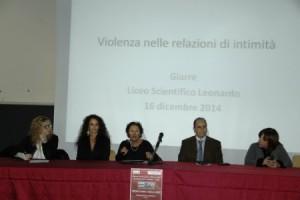 GIARRE Liceo Leonardo convegno sul femminicidio