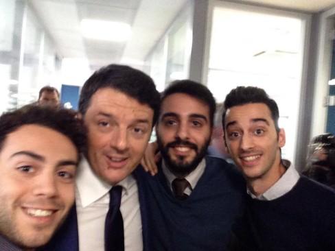 I ragazzi di motorsquare con Matteo Renzi
