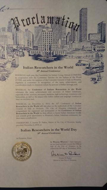 Proclamazione Giornata dei Ricercatori Italiani nel Mondo