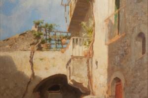 Francesco Lojacono, Taormina, olio su tavola