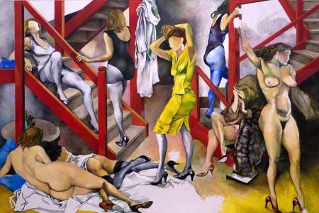 Guttuso Renato, Nella stanza le  donne vanno e vengono, 1986 URL IMMAGINE SOCIAL