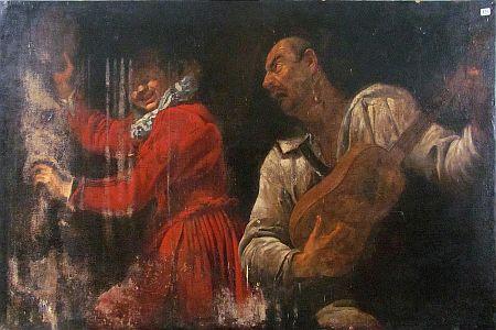 Gaspare Traversi I musici - prima del restauro
