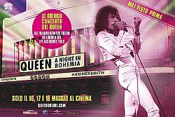 """Si rivolge al pubblico con un energico """"Come On!"""" Freddie Mercury, prima di intonare ai cembali Keep Yourself Alive seguito dalla chitarra di Brian May, con il ritmo incalzante di questo brano hard rock che entra a far parte della rosa dei successi del leggendario concerto Queen A night in Bohemia che arriva sul grande"""