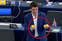 """Strasburgo – """"Dopo le arance marocchine e l'olio tunisino adesso vogliono rubarci anche i limoni. In Sicilia mancano all'appello 5.000 ettari di piante di limone che producevano ossigeno, reddito, ricchezza e posti di lavoro. Il Parlamento europeo è responsabile di questo 'scippo' perché ha votato accordi di libero scambio – come il Trattato Ue-Marocco –"""