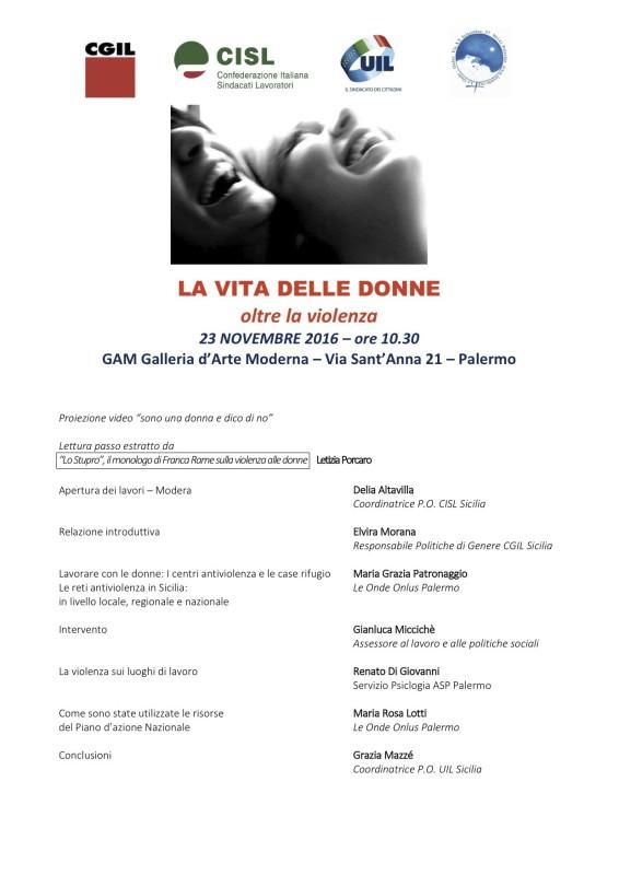 Programma - la vita delle donne - 23 novembre 2016