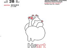 """Catania – L'Azienda Ospedaliero – Universitaria """"Policlinico – Vittorio Emanuele"""", in occasione dell'apertura al pubblico del nuovo polo di ricerca e assistenza sanitaria dedicato maggiormente al dipartimento medico e chirurgico cardiovascolare, all'ematologia e alla chirurgia generale, ha organizzato """"Heart"""", mostra d'arte contemporanea che sarà inaugurata mercoledì 28 dicembre alle ore 11.00 presso la sede di"""