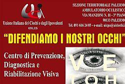 Nuovo centro prevenzione, diagnostica e riabilitazione visiva Unione Italiana Ciechi e Ipovedenti di Palermo