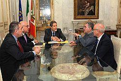 Segretari Cgil Cisl e Uil Sicilia incontrano governatore Musumeci e Assessori Armao e Grasso