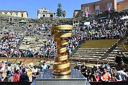 Il Giro d'Italia prosegue in Sicilia.Inaugurazione anche al Teatro Antico di Catania