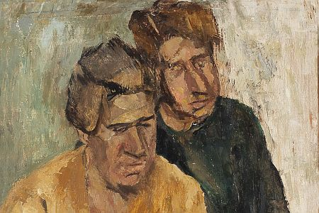 Fausto Pirandello, Madre e figlio, 1949