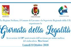 8 ottobre a Caccamo Giornata della Legalità, via a corteo e incontri