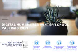 Digital Humanities Winter School Palermo 2019. Prima winter school di Informatica umanistica in Sicilia