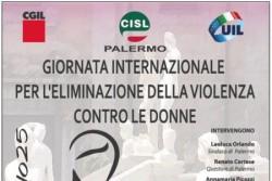 Palermo, in piazza Pretoria la manifestazione di Cgil Cisl Uil