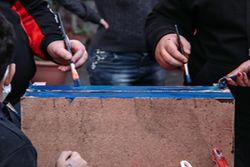 Palermo, 6 aprile 2021. Il Centro Muni Gyana ha intrapreso nell'ultimo anno un percorso di attività in ambito sociale grazie al supporto dell'Unione Buddhista Italiana e dell'organizzazione HRYO Human Rights Youth Organization. Si tratta di laboratori artistici e di iniziative creative sviluppati all'interno del quartiere Capo di Palermo, volti al contrasto della povertà educativa. Nell'ambito